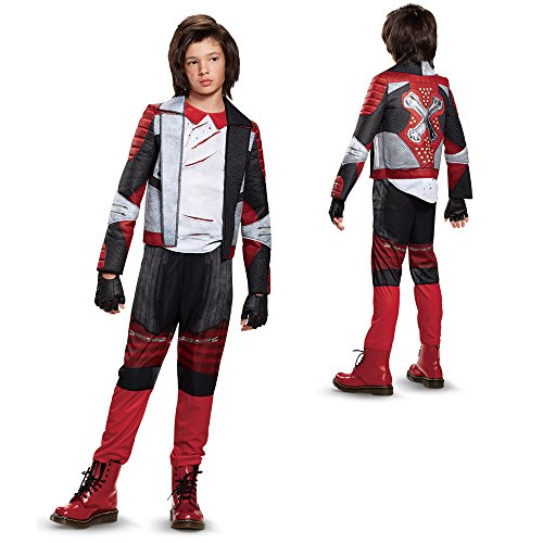 Disney Carlos Deluxe Descendants 2 Costume, Multicolor, Medium (Cruella Costume Child)