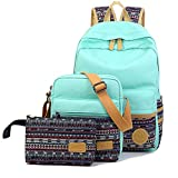Artone Canvas Tribal Stripes Travel Daypack Campus Backpack With Crossbody ...