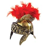 Bristol Novelty BH664 Roman Warrior Helmet with Plume, Mens, Multi-Colour, One Size