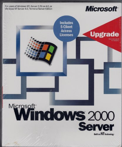 Microsoft Windows 2000 Server Upgrade 5 Client Access Licenses for users of windows NT server 3.51 or 4.0 or windows NT server 4.0 terminal server edition