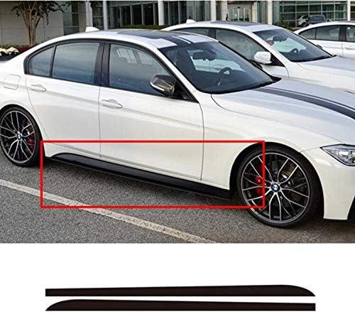 Yiwa Auto Aufkleber Decals Vinyl Aufkleber Car Styling Dekoratives Zubehör 215cm Carbon Aufkleber Seitenschweller Auto Aufkleber Für Bmw E90 E92 E39 F10 F30 F31 Schwarz Auto