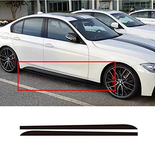 Ocamo 215cm Carbon Fiber Sticker Side Skirt Car Decal for BMW E90 E92 E39 F10 F30 F31 black
