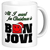 Funny Bon Jovi Coffee Mug - Bon Jovi Christmas - Bon Jovi Christmas Mug