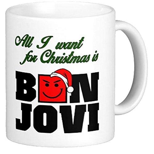 Funny Bon Jovi Coffee Mug - Bon Jovi Christmas - Bon Jovi Christmas Mug ()