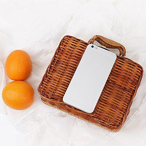 DAY.LIN Damen Handtasche Umhängetasche Bambus Tasche Sommer Damen Tote Luxus Designer Bambus Handtaschen Reisekupplung