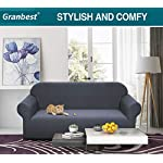 Granbest Premuim Water Repellent Sofa Covers 3 Seater High Stretch 1 Piece Couch Cover for Dogs Universal Sofa Slipcover…