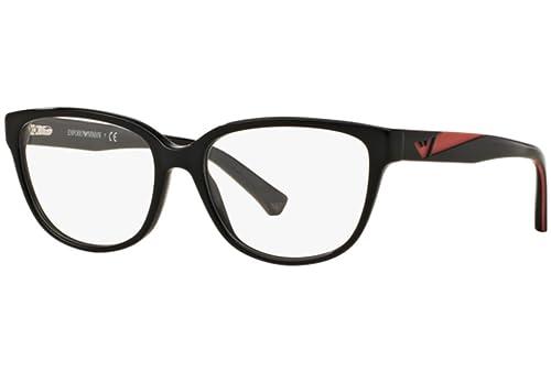 Emporio Armani – EA 3081,Rechteckig Acetat Damenbrillen