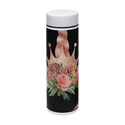 0b5e0671dce Amazon.com: Thermal Travel Mug Flower Unicorn Food Grade Water ...