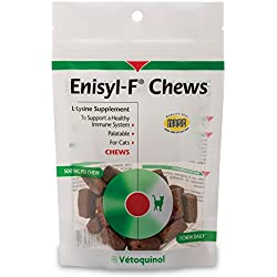 Enisyl-F Lysine Chews 30 Daily Supplement Chews by Vetoquinol USA