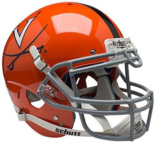 (Schutt Virginia Cavaliers Authentic College XP Football Helmet - Orange w/Stripe - NCAA Licensed - Virginia Cavaliers Collectibles)