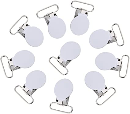Dummy Clips Metal Badge Clips Craft Dummy Clip Strap Pack of 100