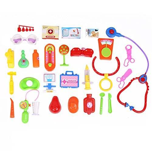 Children's Basic Skills Development Toys toys for 2 year old girls Baby Kids Doctor Medical Play Set Carry Case Kit Education Role Play Toy toys for 2 year old boy 30Pcs by Children's Basic Skills Development Toys