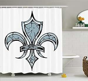 Fleur De Lis Decor Shower Curtain Set By