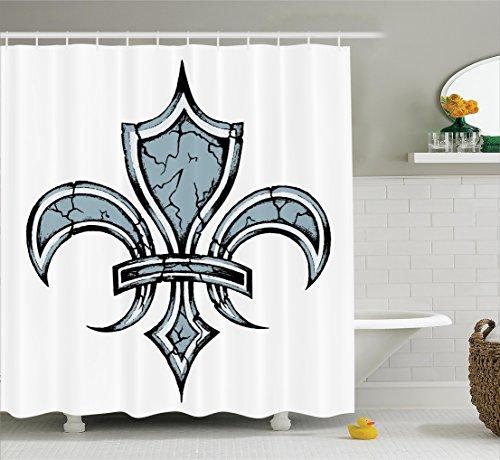 Curtain Ambesonne Renaissance Bathroom Accessories
