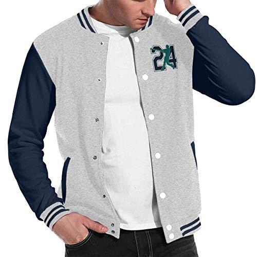 Basketballsadw Men Seattle-Griffey-The-Kid Baseball Uniform Jacket Gray