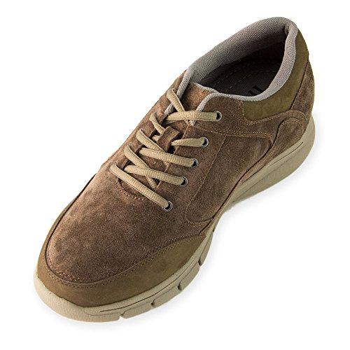 Hombre cm Piel Altura Modelo 7 Alzas Berna con Hasta Zapatos Aumentan Que de Fabricados Marron Masaltos EN 0xwOvfqEf