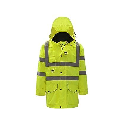MLX Chaqueta Fluorescente, Abrigo De Algodón Reflectante, Ropa De Seguridad Para El Tráfico En