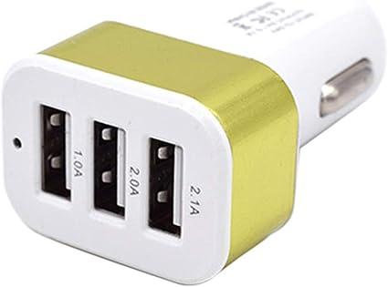 Beiilan Dc 5 0v 2 1a 2a 1a Auto Universal 3 Port Usb Ladegerät Telefon Quick Charge Usb Adapter Für Den Zigarettenanzünder Küche Haushalt