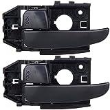 ECCPP Door Handles 2Pcs Black Interior Left Side for Hyundai Elantra 2001 2002 2003 2004 2005