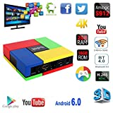 2017 Newest Mercu T95K Pro Android 6.0 Android BOX Amlogic S912 8 Core Cortex -A53 64 Bits with 2GB RAM/16GB ROM wifi 2.4G/5G 1000M LAN Bluetooth 4.0 support 4K