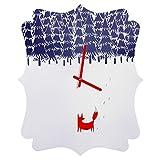 Deny Designs  Robert Farkas, Alone In The Forest, Quatrefoil Clock, Medium