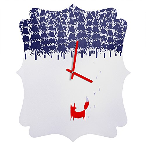 Deny Designs  Robert Farkas, Alone In The Forest, Quatrefoil Clock, Medium by Deny Designs