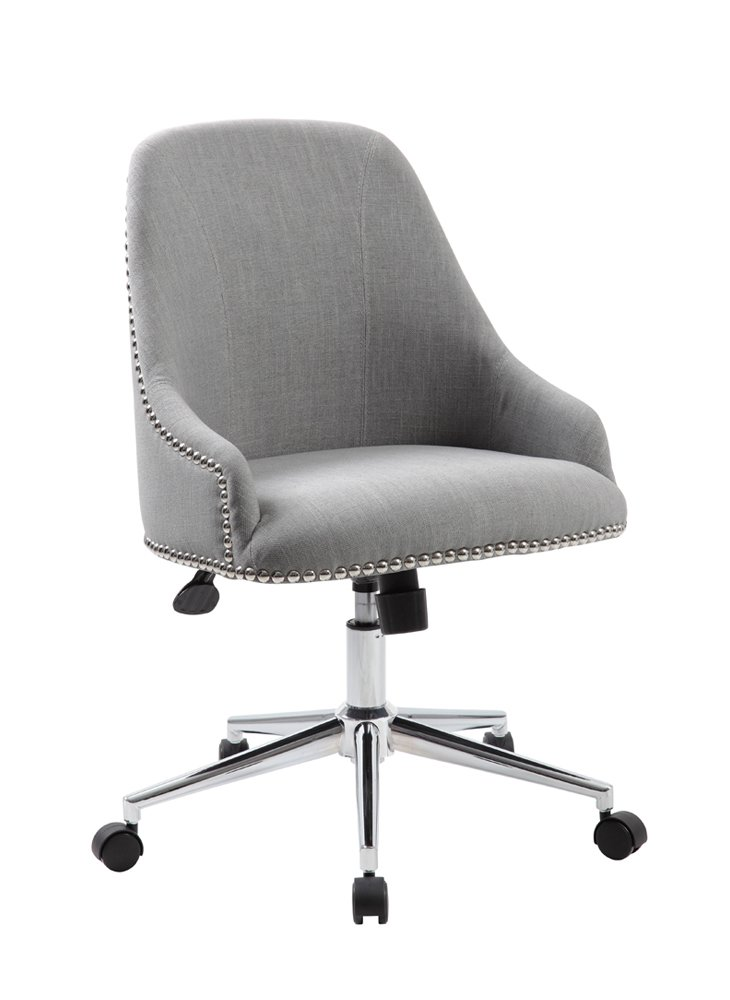Amazoncom Boss Office Carnegie Desk Chair In Gray Kitchen Dining - Grey office chair