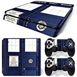 GoldenDeal PS4 Slim Skin and DualShock 4 Skin - Dr Who - PlayStation 4 Slim Vinyl Sticker for Console and Controller Skin