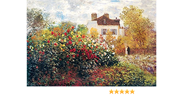 Claude Monet Artists Garden at Argenteuil Art Print inch Poster 24x36 inch