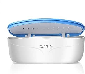BMG Dispositivo esterilizador UV, Herramienta de Limpieza de Cajas de desinfección con luz Ultravioleta para Pinzas de uñas, Pinzas y Cepillo de Dientes de Limpieza, bacterias matadas 99.9%: Amazon.es: Deportes y aire