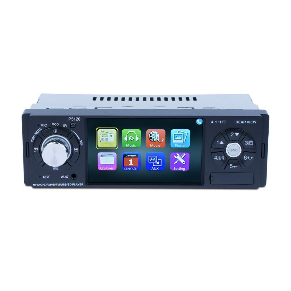 4.1インチBluetooth mp5プレーヤーオーディオステレオ車リモートコントロールFMラジオプレーヤー背面カメラでwith Rear Viewカメラ入力関数(カメラ)ステアリングホイールコントロール機能付き B07C7N8MDN