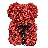 Dacyflower Simulated PE Flower Rose Bear Doll Valentine's Day Decoration 25CM