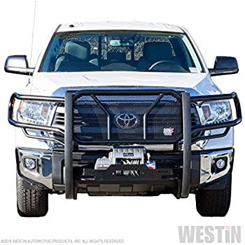 Incl. 2018 Tundra with Toyota Safety Sense P // 2008-2019 Toyota Sequoia Pickup Truck Black Front Bumper Brush Nudge Push Bull Bar TAC Grill Guard Fit 2007-2019 Toyota Tundra