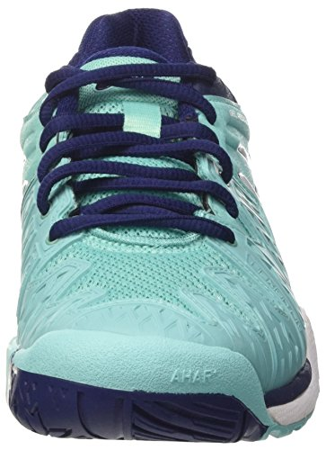 Multicolore Resolution Tennis Violet Blue White 3901 Chaussures Indigo de Femme W Asics 6 Blue Gel Pool 45qzwxa