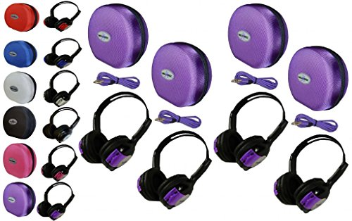 4-pack-kid-sized-wireless-infrared-universal-car-dvd-ir-automotive-colored-adjustable-2-channel-head