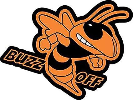 Amazon Com 3 75in 2 75in Orange Right Buzz Off Hornet Sticker