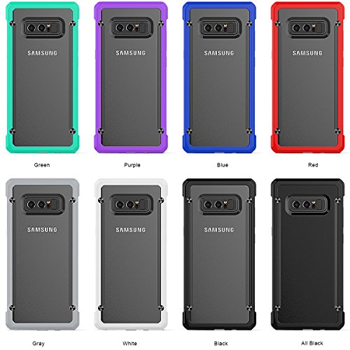 Yesoo Galaxy Note 8 Case, Hard Back Bumper Shockproof Protective Slim Case Luxury Design Protection Cover for Samsung Galaxy Note 8 2017 Smartphone