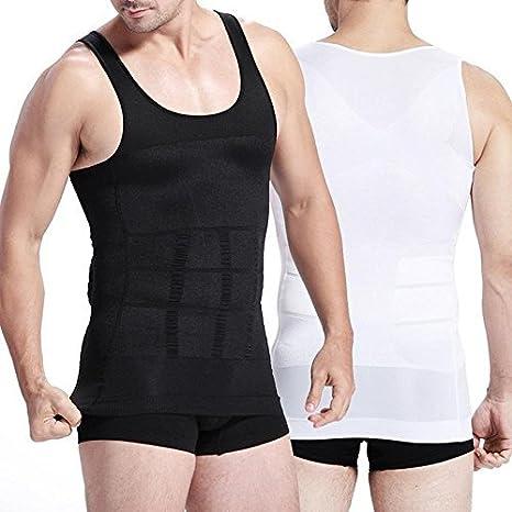 ef345ba585 MK Slim N Lift Slimming Tummy Tucker Body Shaper Vest for Men Undershirt  Vest to Look