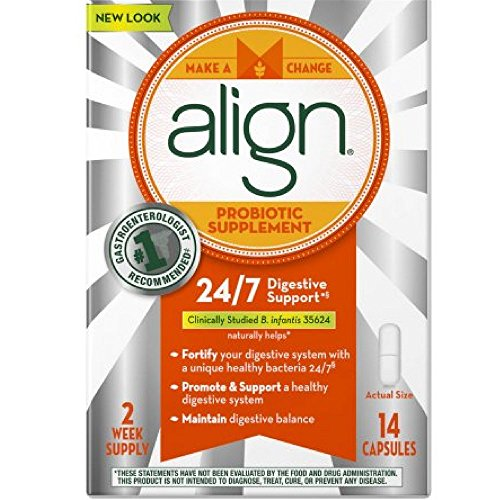 Align Probiotic Supplement 24/7 Digestive Support, 28 Capsules (Pack of 6) by Align