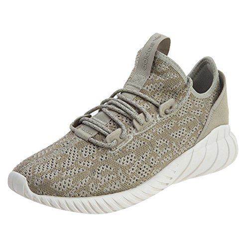 adidas Mens Tubular Doom Sock PK Originals Running Shoe Sesame/Sesame
