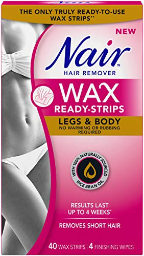 Nair Wax Ready Strips for Legs & Body with Rice Bran for sale  Delivered anywhere in Canada