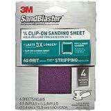 3M 9660 SandBlaster 1/4 Sheet 60 Grit Clamp-On Sandpaper