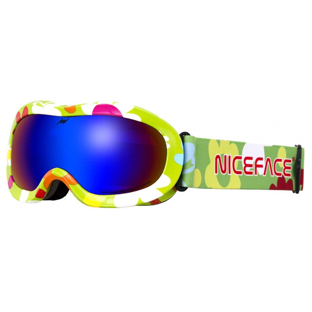 LBAFS Kids Ski Goggles-Double Anti - Fog Objektiv Snowboard Brille Mit UV-Schutz Winddicht Für Kinder,C B07K19Q9HJ Sonnenbrillen Günstiger