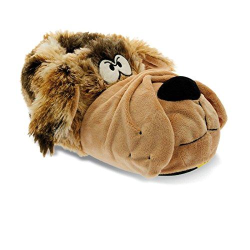 Sams Bulldog Animal Chaussures BEIGE Chaussons drôle humoristique chaud, hubu