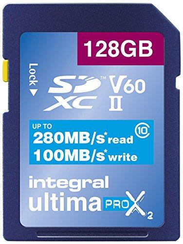Integral – Tarjeta de vídeo Velocidad V60 64 GB 280/100 MB/s UHS-II X2 Tarjeta de Memoria SDXC 128 GB