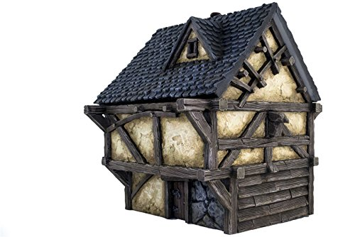 (War World Gaming Fantasy Village Cottage - 28mm Medieval Wargaming Terrain Model Scenery)