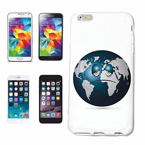 """cas de téléphone iPhone 7S """"EARTH PLANET SMILEY ERDBALL GLOBUS NASA SPACE ASTRONAUTE ROBOTIQUE"""" Hard Case Cover Téléphone Covers Smart Cover pour Apple iPhone en blanc"""