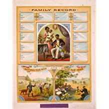 c1880. poster Family record. Before the war and since