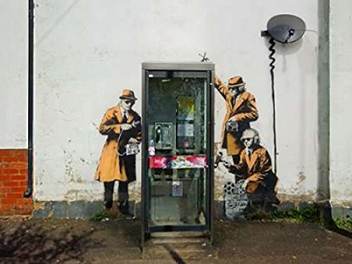 Fairview Road and Hewlett Road in Cheltenham Gloucestershire 22 x 28 Poster Print by Anonymous graffiti attributed to Banksy attributed to Banksy