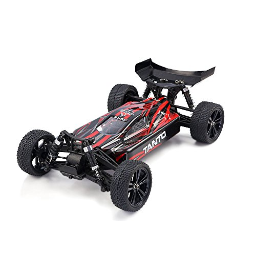 HIMOTO E10XB RC Brushed Racing Car 1/10 Scale 2.4G 4WD Electric Power Off Road Buggy Car with 60 km/h+ High Speed, Red
